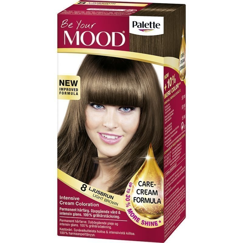 MOOD Hair Colour 4 in 1 No. 8 Light Brown