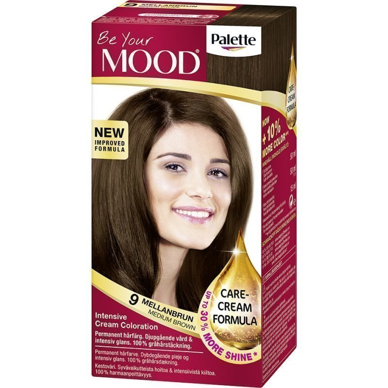 MOOD Hair Colour 4 in 1 No. 9 Medium Brown