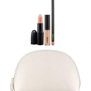 Mac Jeans Keepsakes/Nude Lip Bag Meikkipussi Ja Kolme Huulituotetta