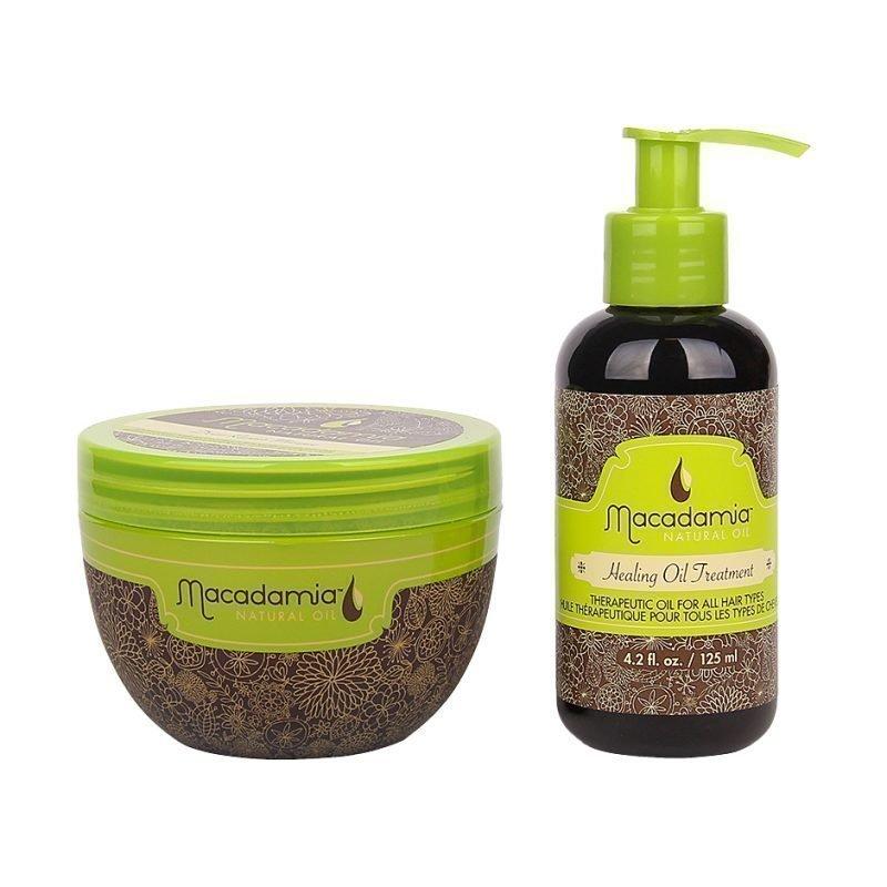 Macadamia Macadamia Duo Deep Repair Masque 250ml Healing Oil Treatment 125ml