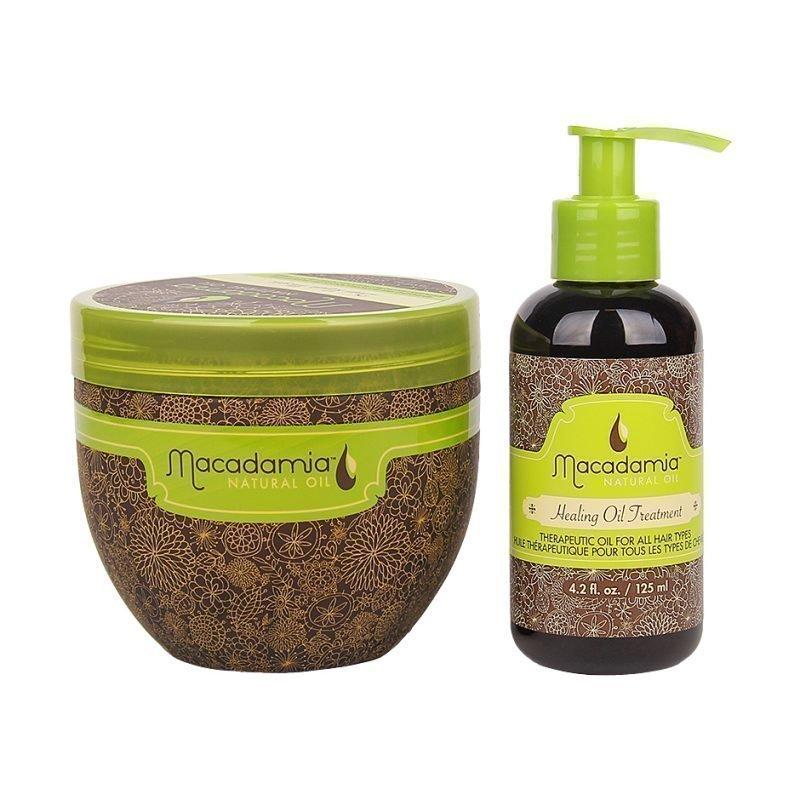 Macadamia Macadamia Duo Deep Repair Masque 470ml Healing Oil Treatment 125ml