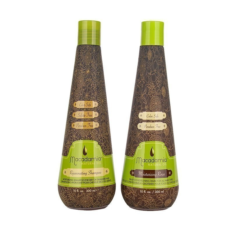 Macadamia Macadamia Duo Rejuvinating Shampoo 300ml Moisturizing Rinse 300ml