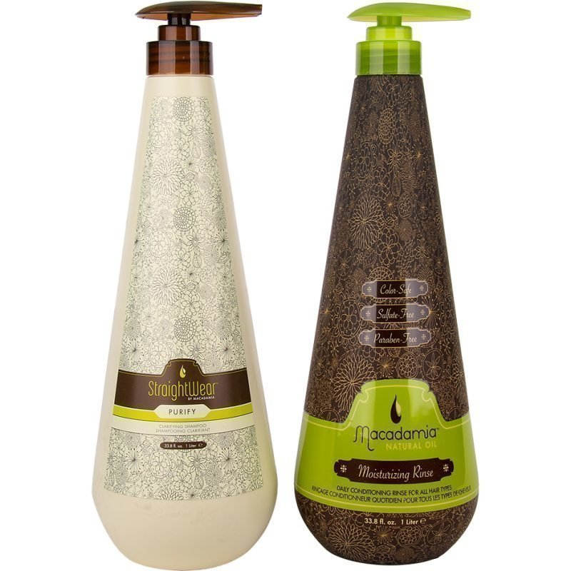 Macadamia Macadamia Duo StraightWear Purify Shampoo 1000ml Moisturizing Rinse 1000ml