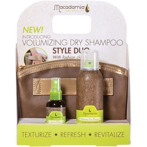 Macadamia Professional Volumizing Dry Shampoo Style Duo with Fashion Clutch