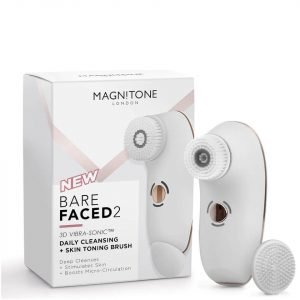Magnitone London Barefaced 2 Daily Cleansing And Skin Toning Brush White
