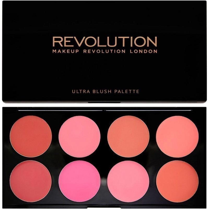Makeup Revolution Blush Palette All About Cream Ultra Professional Blush Palette 8 High Pay Off Blusher Powders