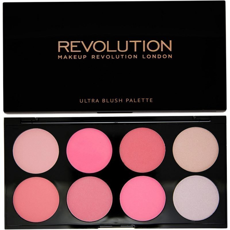 Makeup Revolution Blush Palette All About Pink Ultra Professional Blush Palette 8 High Pay Off Blusher Powders
