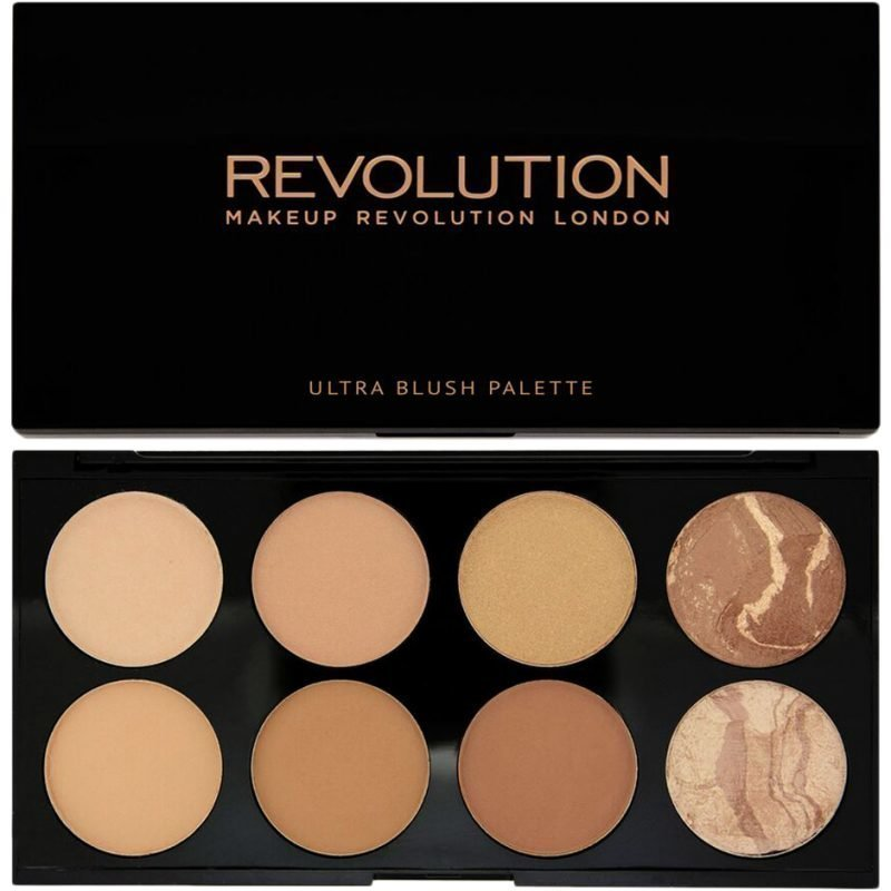 Makeup Revolution Bronze Palette All About Bronze Ultra Professional Blush Palette 8 High Pay Off Blusher Powders