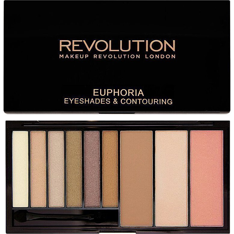 Makeup Revolution Euphoria Palette Bronzed Euphoria Eyeshades & Contouring. 6 Eyeshadows Blush Bronze & Highlighting Powders.