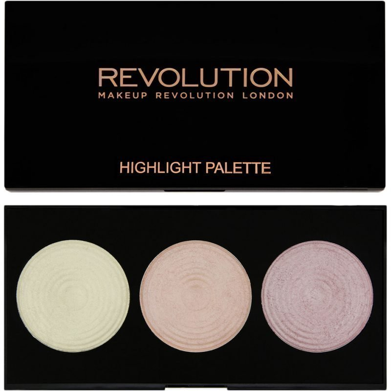 Makeup Revolution Highlighter Palette Highlight 3 Highlighters Powder