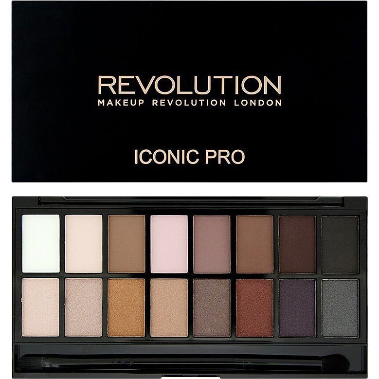 Makeup Revolution Iconic Pro 1 Palette 16 Eyeshadows Eyeshadow Brush