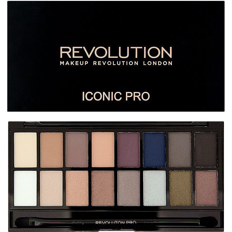 Makeup Revolution Iconic Pro 2 Palette 16 Eyeshadows Eyeshadow Brush
