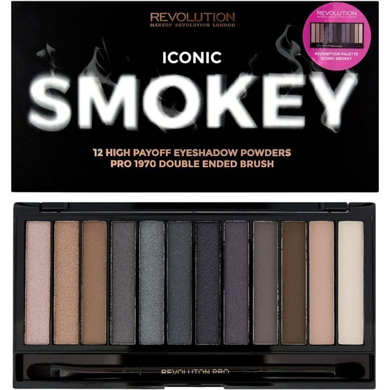 Makeup Revolution Iconic Smokey Palette 12 High Payoff Eyeshadows Powders