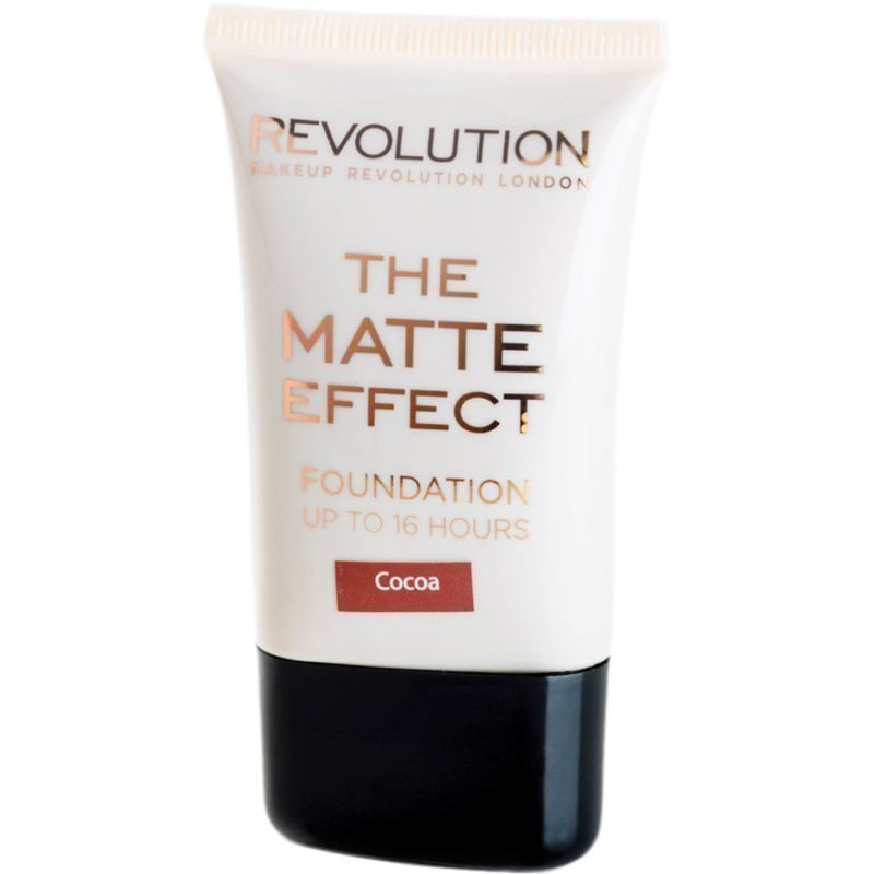 Makeup Revolution The Matte Effect Foundation Up To 16 Hours Cocoa