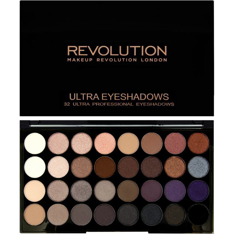 Makeup Revolution Ultra 32 Shade Eyeshadow Palette Affirmation 32 Ultra Professional Eyeshadows