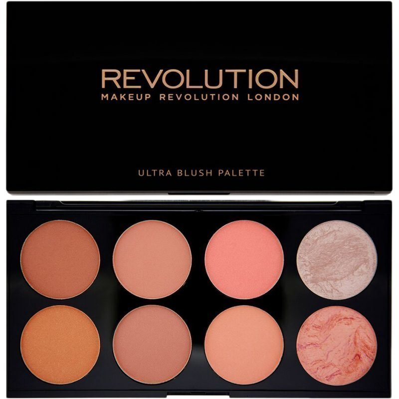 Makeup Revolution Ultra Blush And Contour Palette Hot Spice 8 Shades