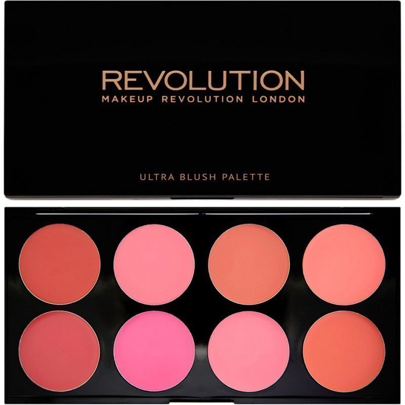 Makeup Revolution Ultra Blush Palette All About Cream Melts 8 Shades