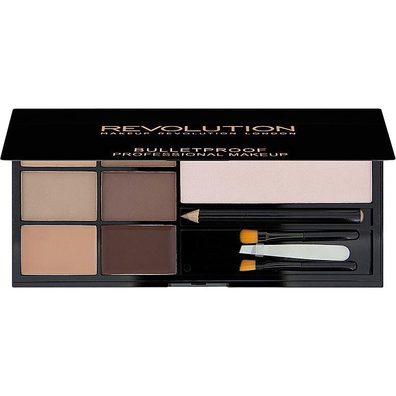 Makeup Revolution Ultra Brow Fair To Medium 4 Eyebrow Powders 2 Tinted Eyebrow Wax Eyebrow Arch Enhancing Cream Browbone Highlighter Eyebrow Pencil Mini Tweezers Applicators.