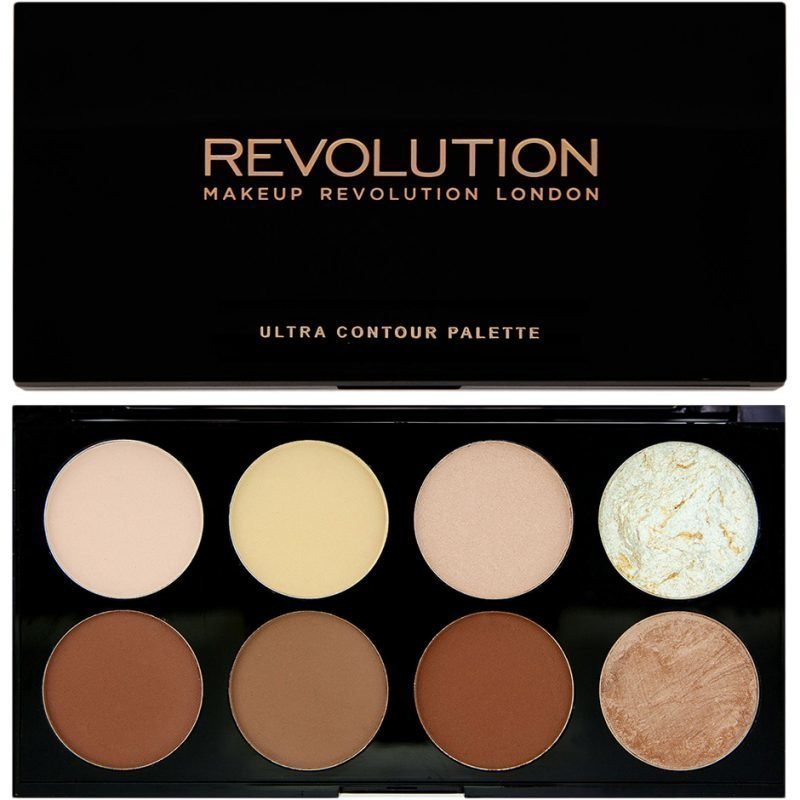 Makeup Revolution Ultra Contour Palette 8 Professional Bendable Powders To Perfectly Contour And Highlight