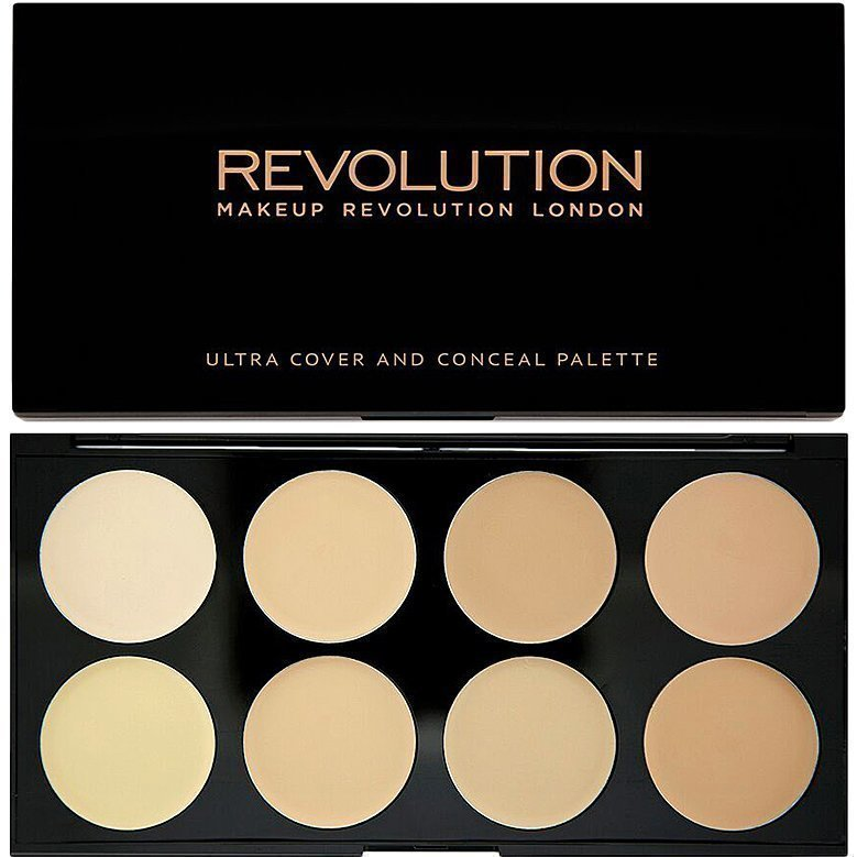 Makeup Revolution Ultra Cover And Conceal Palette Light 8 Shades