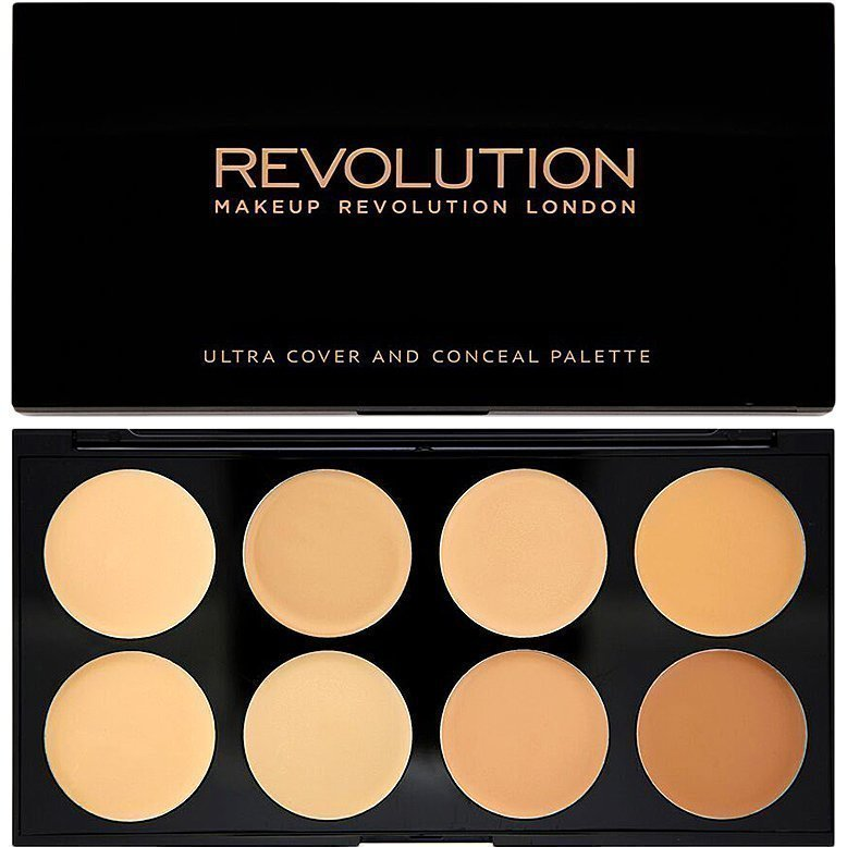Makeup Revolution Ultra Cover And Conceal Palette Light/Medium 8 Shades