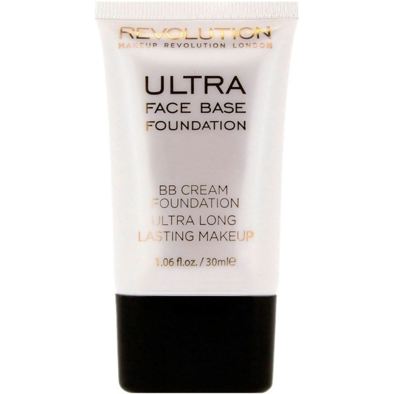 Makeup Revolution Ultra Face Base Foundation BB Cream Foundation Ultra Long Lasting Makeup 02 Pink Tone 30ml