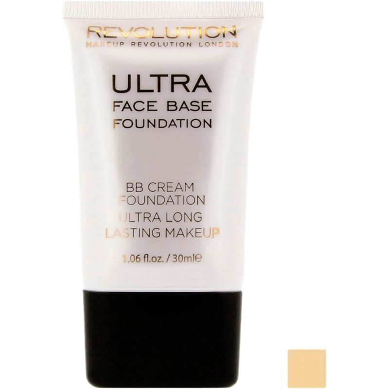 Makeup Revolution Ultra Face Base Foundation BB Cream Foundation Ultra Long Lasting Makeup 03 Yellow Tone 30ml