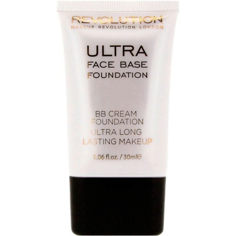 Makeup Revolution Ultra Face Base Foundation BB Cream Foundation Ultra Long Lasting Makeup 09 Mid Tone 30ml