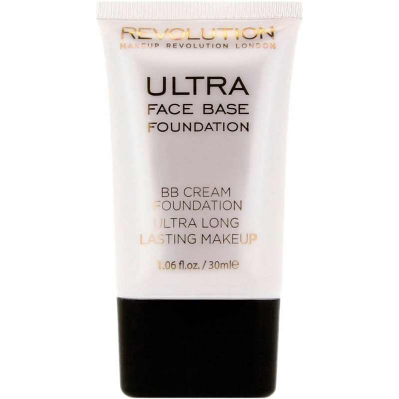 Makeup Revolution Ultra Face Base Foundation BB Cream Foundation Ultra Long Lasting Makeup 10 Mid Tone 30ml