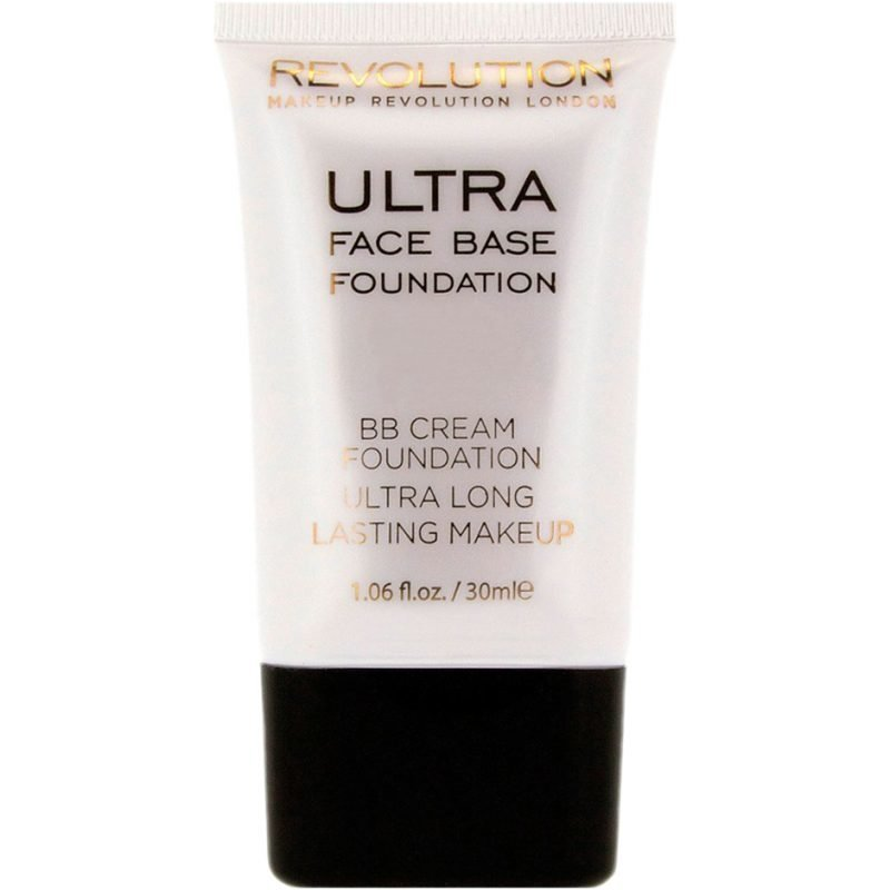 Makeup Revolution Ultra Face Base Foundation BB Cream Foundation Ultra Long Lasting Makeup 14 Dark Tone 30ml