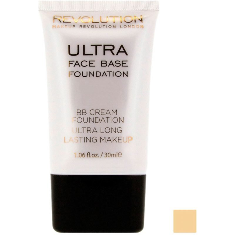 Makeup Revolution Ultra Face Base Foundation BB Cream Foundation Ultra Long Lasting Makeup 15 Dark Tone 30ml