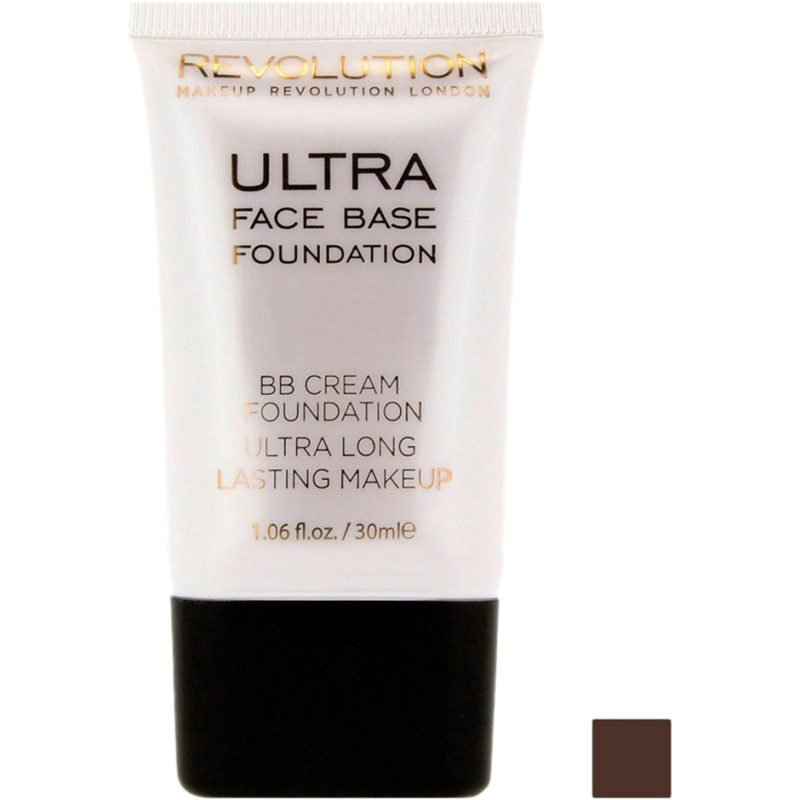 Makeup Revolution Ultra Face Base Foundation BB Cream Foundation Ultra Long Lasting Makeup 16 Dark Tone 30ml
