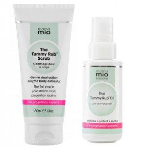 Mama Mio Stretch Mark Prevention Duo Scrub + Oil