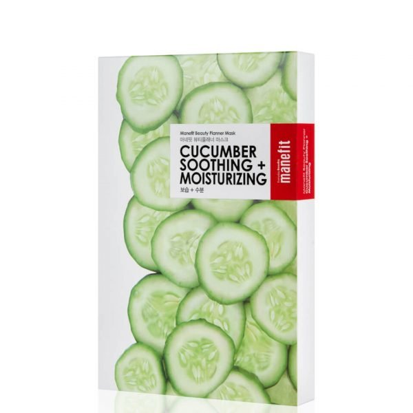 Manefit Beauty Planner Cucumber Soothing + Moisturizing Mask Box Of 5