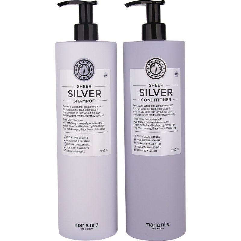 Maria Nila Sheer Silver Duo Shampoo 1000ml Conditioner 1000ml