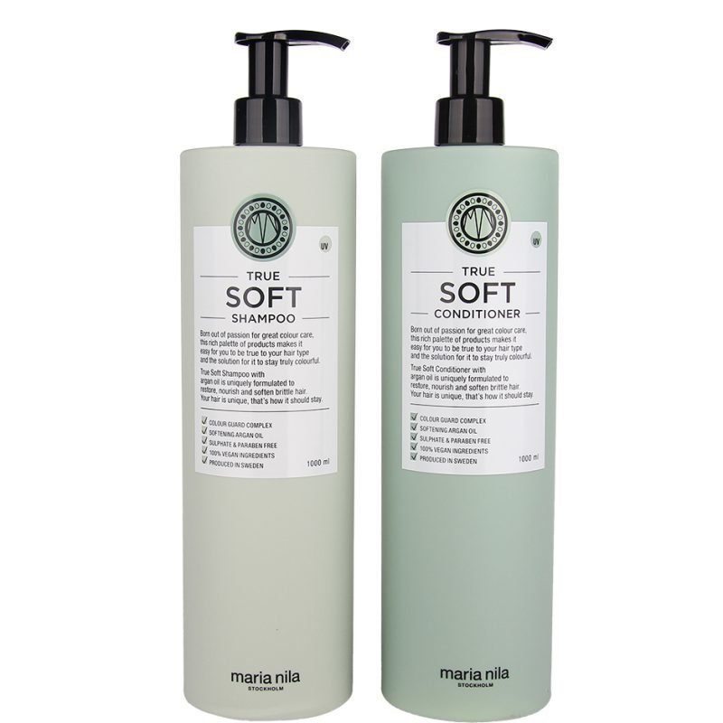 Maria Nila True Soft Duo Shampoo 1000ml Conditioner 1000ml