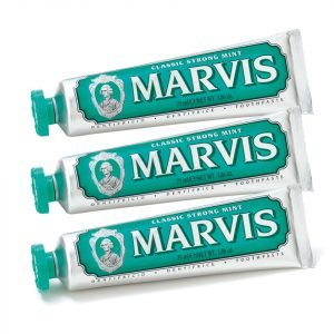 Marvis Classic Strong Mint Toothpaste Bundle 3x85 Ml