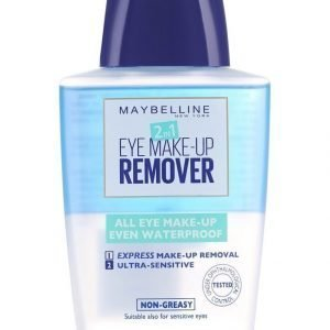 Maybelline 2in1 Eye Make Up Remover Silmämeikinpoistoaine 125 ml
