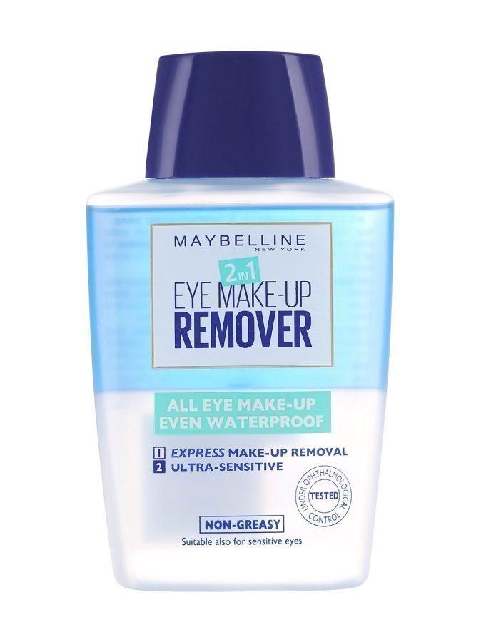 Maybelline 2in1 Eye Make Up Remover Silmämeikinpoistoaine 125 ml