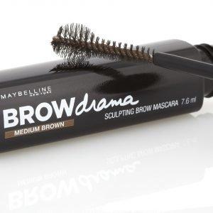 Maybelline Brow Drama Sculpting Brow Mascara Various Shades Medium Brown