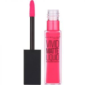 Maybelline Color Sensational Vivid Matte Liquid Lipstick 8 Ml Various Shades 15 Electric Pink