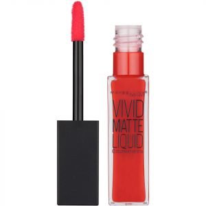Maybelline Color Sensational Vivid Matte Liquid Lipstick 8 Ml Various Shades 35 Rebel Red