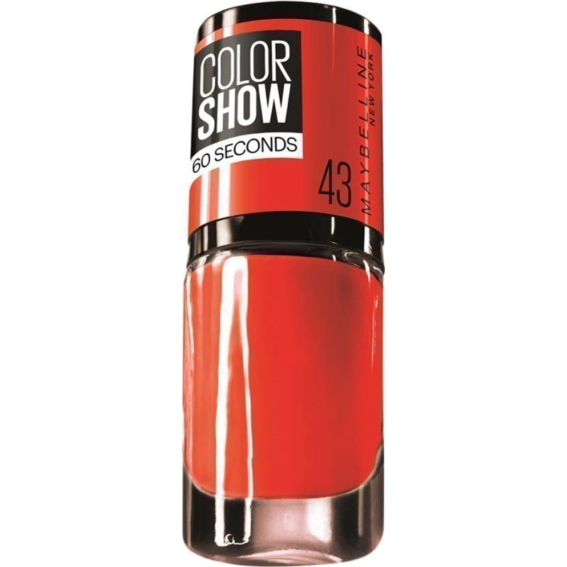 Maybelline Color Show Nail Polish 43 Red Apple 7ml
