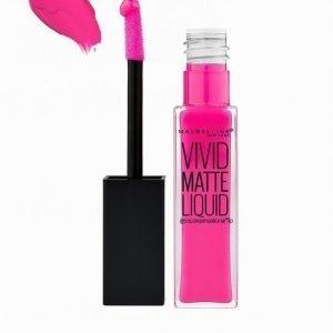 Maybelline Vivid Matte Liquid Lipstick Huulipuna Electric Pink