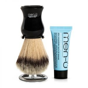 Men-Ü Db Premier Shave Brush With Chrome Stand Black