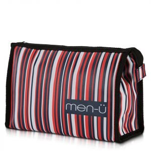 Men-Ü Stripes Toiletry Bag – Blue / Red / White