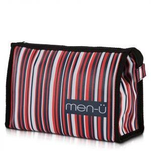 Men-Ü Stripes Toiletry Bag – Blue / Red / White