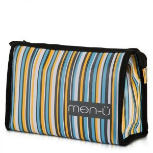 Men-Ü Stripes Toiletry Bag – Grey / Blue / Yellow