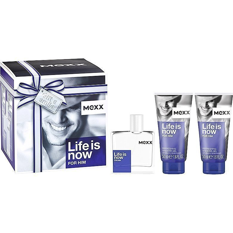 Mexx Life is Now For Him EdT 50ml 2 x Shower Gel 50ml