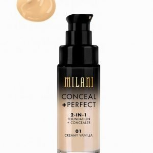 Milani Conceal & Perfect Liquid Foundation Meikkivoide Creamy Vanilla